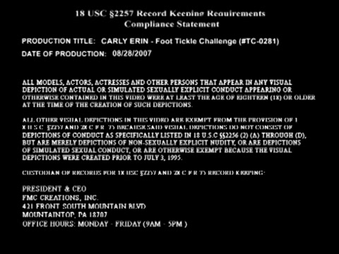Tickle Challenge - Carly Erin Foot Tickle digital playground films produced