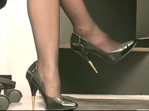 Hairy office girl strips and plays