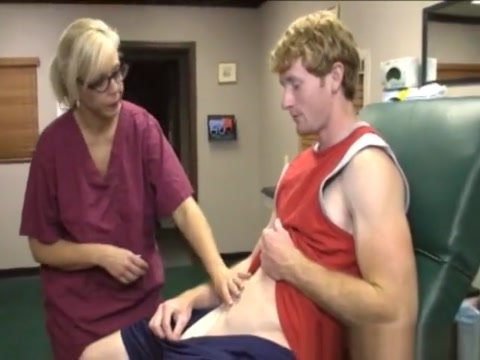 Milf Nurse Cumcovered While Giving A Handjob