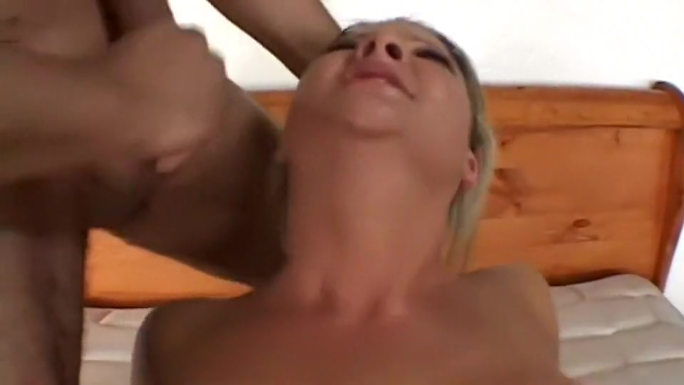 Double penetration and facial for a naughty girl