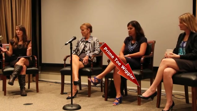 news women Toe wiggling in Discussion panel