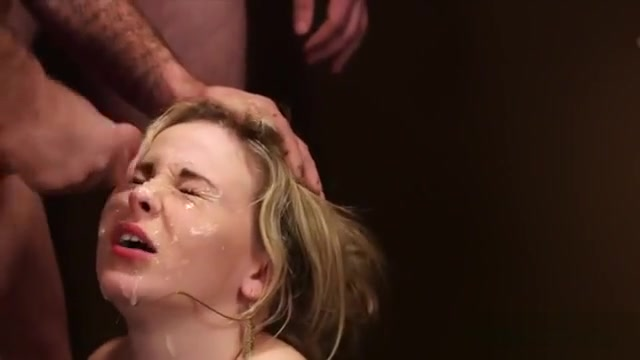 Foxy Bombshell Gets Cum Load On Her Face Gulping All The Spe