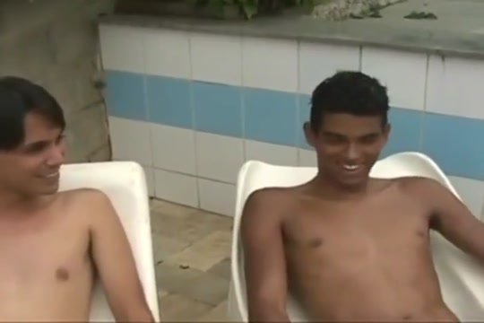 Brazilian twinks by the pool Romuald Rain