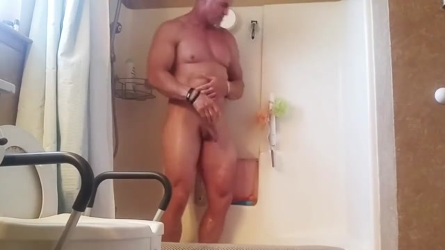 Mature stud takes a shower and cleans his dirty cock big tit bbw comics