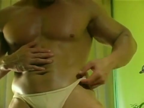 Big Bodybuilder oiling inserting your penis into your anus