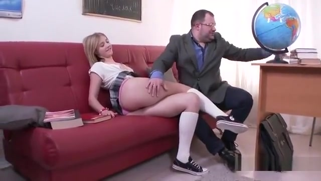 Innocent Schoolgirl Gets Seduced And Nailed By Her Elder Tea Teen on a dildobicicle