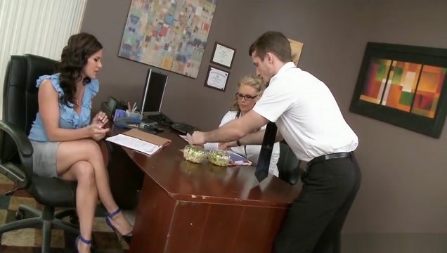 Milfs Fuck With The Intern At Work