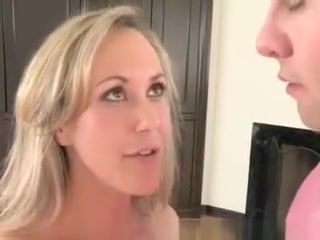 Pretty Blonde Milf And Teen Girl Sucking Dick Together