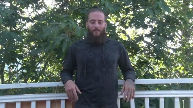 Furry Bearded Yoga Instructor robert pattinson half naked