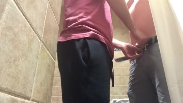 Public Bathroom on College Campus: Bred by a Senior Mom Xxx Milf