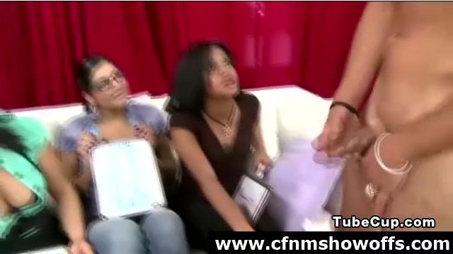 Group of femdom girls tease CFNM guy young teen sex cum