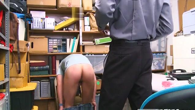 Guard Fucks Hot Thief masturbation on spy cam
