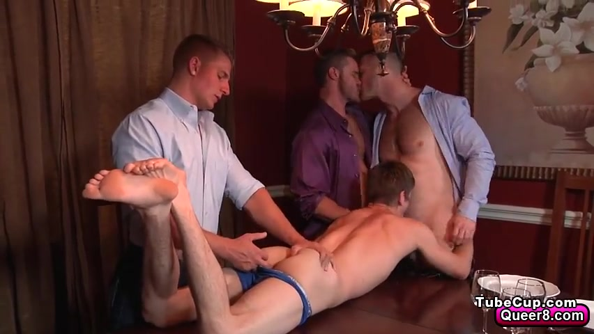 Twink Johnny Rapid gang banged by three men naughty cartoon animated porn