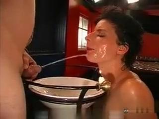 Horny Dirty Brunette Girl Drinking P1ss Virus free bondage porn