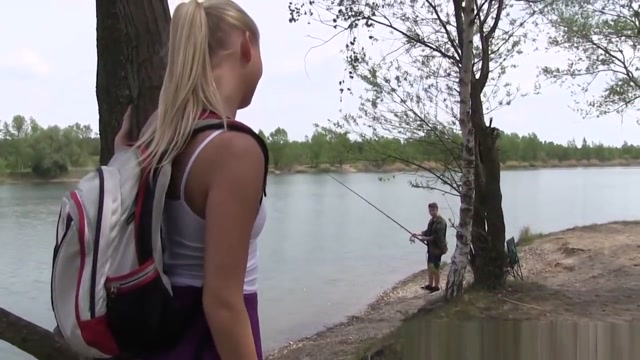Outdoors Teen Pussylicked By Fisherman Cum sex pics