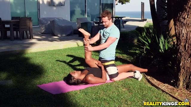 Yara Skye Van Wylde in Naughty Yoga - RoundandBrown Lesbian anal playtime