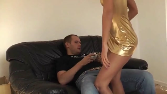 Gorgeous college girl Fucked by Her Stepbrother on Couch