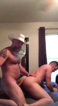 Daddy cowboy fucking his boy guide to eating pussy