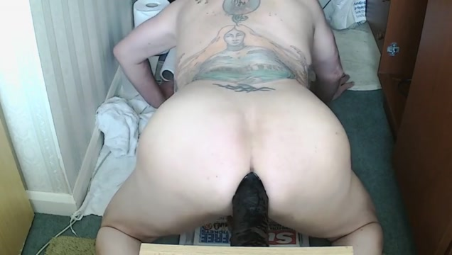 Black 11 inch and thick toy in my Man Pussie How to female masturbate video