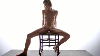 female masturbation on a chair