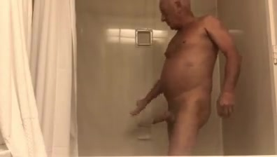 Grandpa morning shower I m ready to settle down
