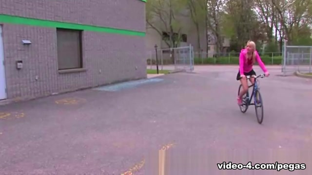 Candy Kiss in Masturbating on a Bike - PegasProductions