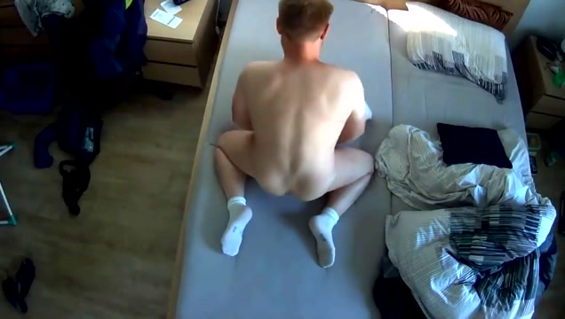 Humping my bed - Camera 2 Pussy spanking punishment