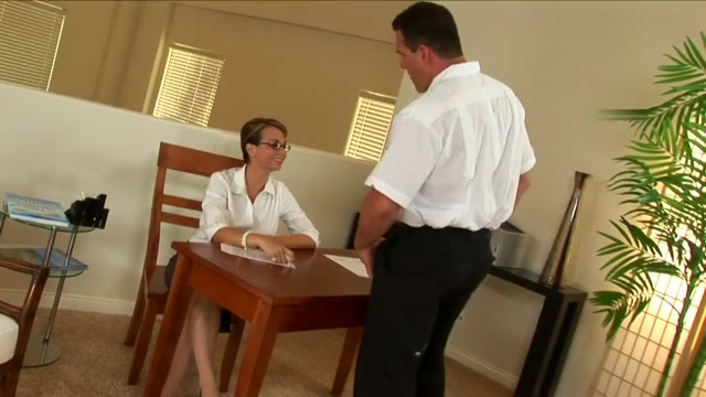Holly West works hard to get that prick jizz all over her sexy glasses definition of the word milf