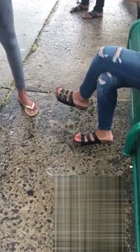 Orange toes at the bus stop Webcam xxx in Sisophon