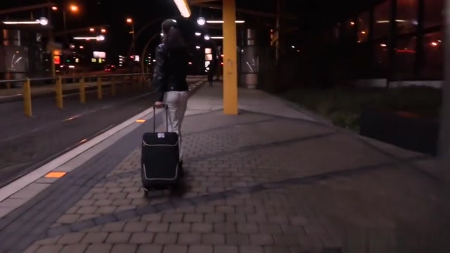 Public Agent Night Time Outdoor Sex At The Station Blonde ravished on car