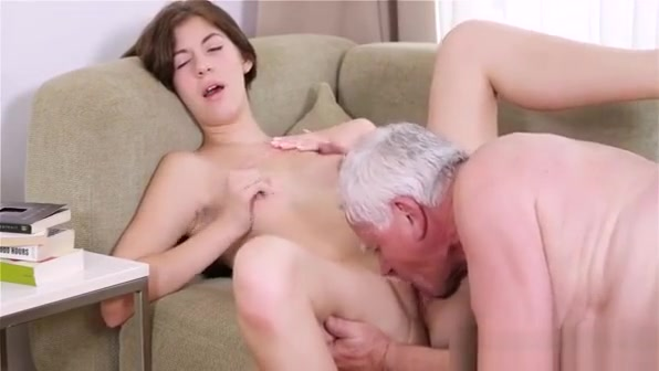 Young Babe Gets Impaled On 10-pounder Of An Old Nasty Dude Curvy natural tits tgirl