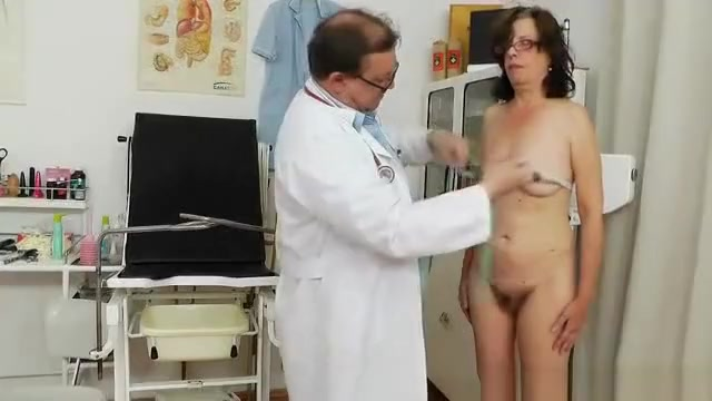Playful madame gyno at the clinic