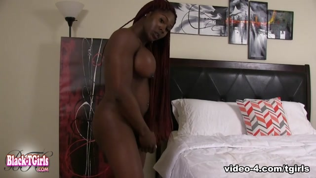 Shay in Shay Fucks Herself With A Dildo - BlackTGirls