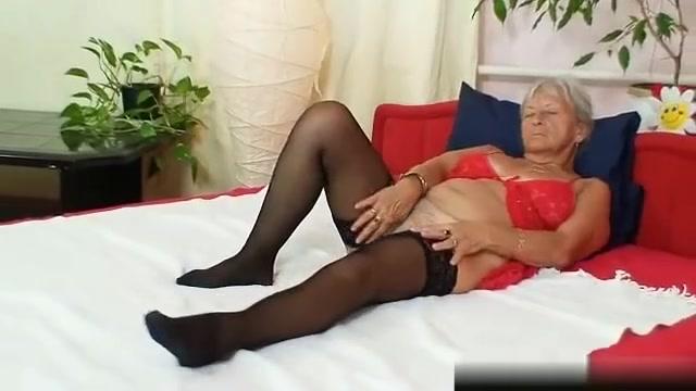 Ugly grandma Cecilie toys her hairy pussy Spokane sex