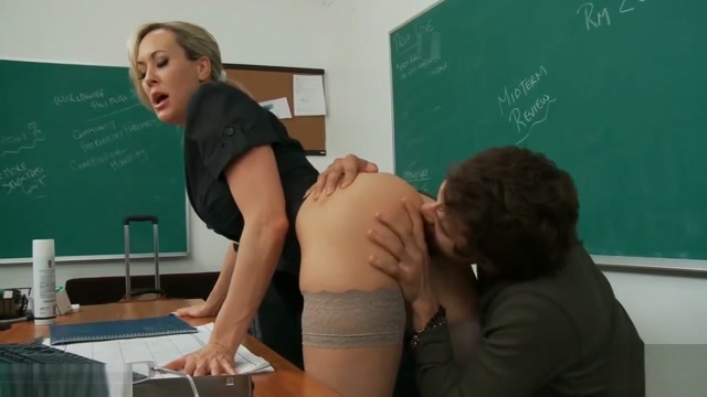 Busty blonde Brandi Love fucking a big dick