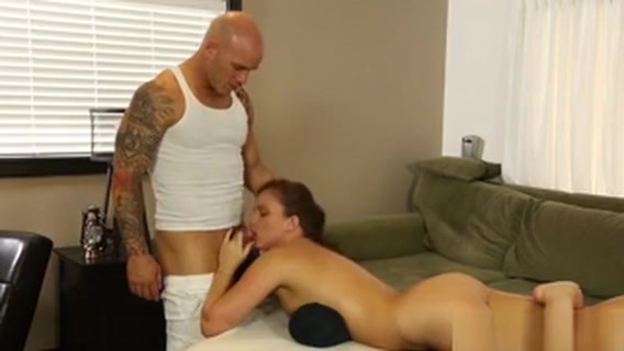 Massaged Babe Throats Rod