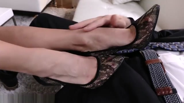 FootsieBabes Soft Delicate Toes All for Stepson Secretly watched my wife masturbate