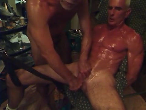 oiled, cuffed, cbt, stroked tdick Classic hardcore