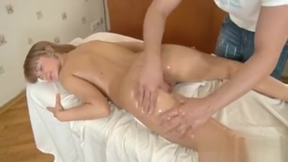 Hunk Is Widening Oil All Over Beautys Body truck stop whore dirty panty slut tmb 1