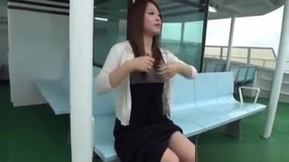 Japanese Whore Flashing Fishnet stocking milf