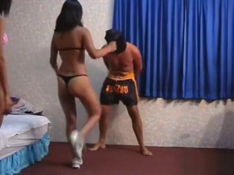 thai hookers paid to kick balls laughing