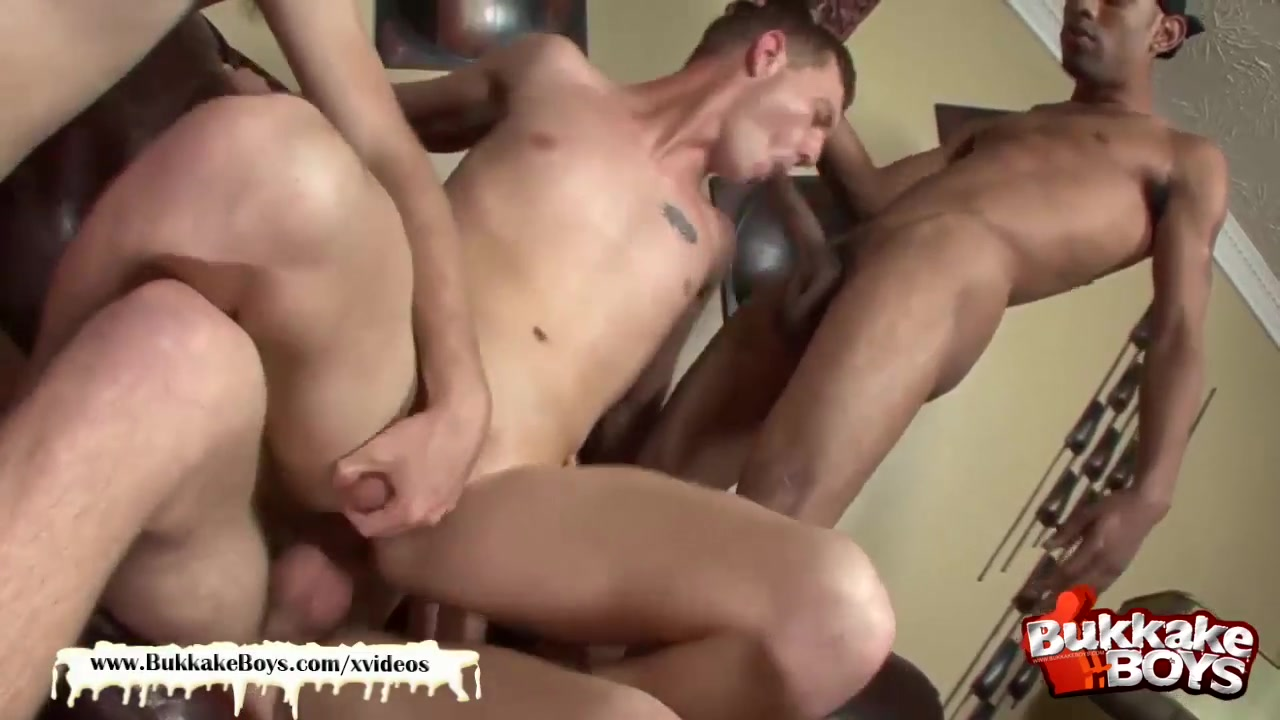 Sexy bukkake boy takes two fat cocks up his ass at the same time! black people having sex dvd