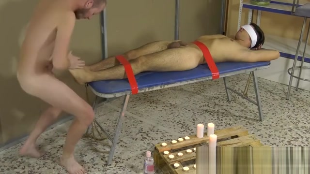 Deviant homo uses bound twink feet for cock stroking Indian honeymoon mms