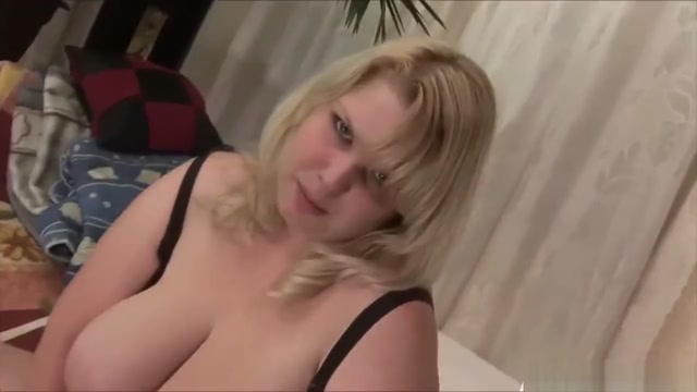 Blonde Chubby Bitch Swallows Dick