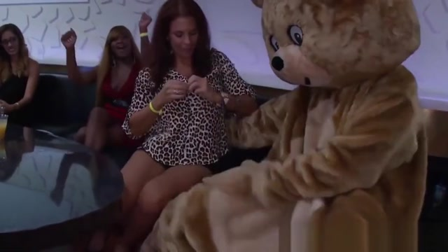 Redhead amateur sucking dick at wild stripper party water around the heart
