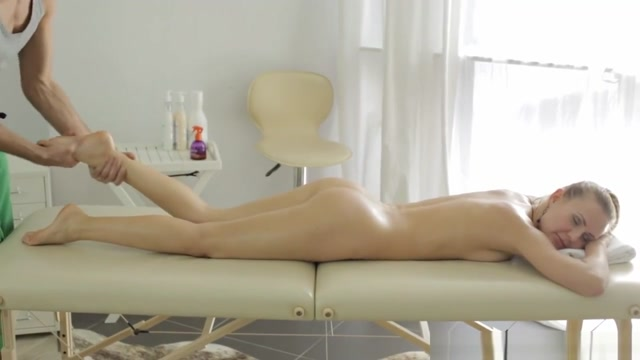Passionate massage table fuck Tan line hot females naked