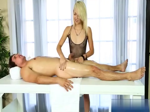 Blonde Masseuse Carmen Callaway Screwed On Massage Table Perky Japanese tits