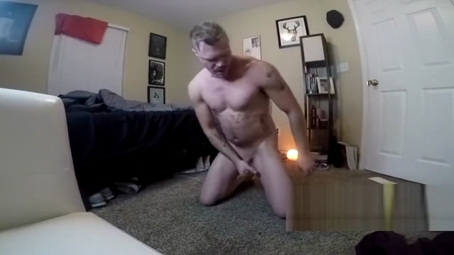 Faggot Slut Toys Ass,Shoots Load, Licks Toy Black mexican pooltable dildo