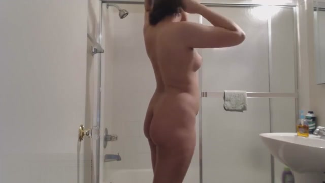 Cute plump hairy girl takes shower and dries off Big nude tits sucking dick