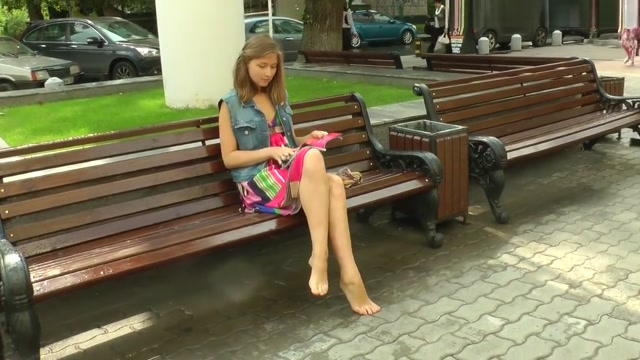 Blonde beauty shows off her dirty feet in public how to stick things up your ass